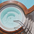 Постер, плакат: Whirlpool on the deck of a cruise ship