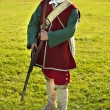18th century British army infantry Redcoat uniform — Stock Photo #18064089