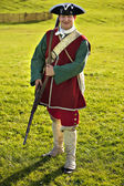 18th century British army infantry Redcoat uniform — Stock Photo