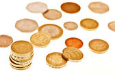 British coins isolated on white — Stock Photo
