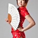 Chiński model sukni tradycyjne qipao — Zdjęcie stockowe #23327452