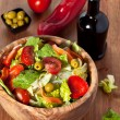 Wooden bowl with salad — Stock Photo #26902247