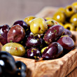Variety of green, black and mixed marinated olives — Stock Photo #27452471