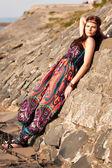 Genç hippi kız portresi — Stok fotoğraf