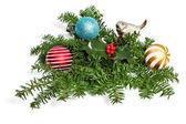 Jul prydnad med spruce gren — Stockfoto