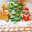 Christmas gingerbread decoration — Stock Photo