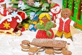 Lebkuchen-weihnachtsdekoration — Stockfoto