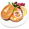 Salmon Bagel Sandwich — Stock Photo #32254131