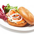 Salmon Bagel Sandwich — Stock Photo #32255091
