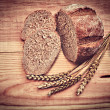 Rye bread and corn — Stock Photo