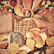 Assortment of bakery products — Stock Photo