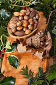 Christmas nuts — Stock Photo