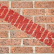 Old brick wall texture with COMMUNISM inscription — Stock Photo #38122567
