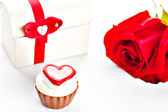 Chocolate surtido en forma de corazón — Foto de Stock