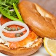 Salmon Bagel Sandwich — Stock Photo #39261849
