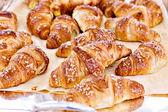 Croissant bread on buffet line — Foto Stock