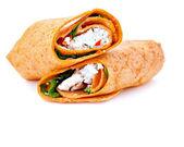 サンドイッチをラップします。 — ストック写真