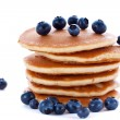 Stack of pancakes with fresh blueberries — Stock Photo #50066127