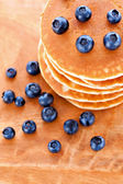 Stack of pancakes with fresh blueberries — ストック写真