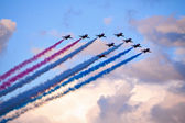 Red Arrows formation — Stock Photo
