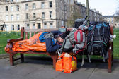 Homeless man in Edinburgh — Stock Photo