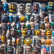 Masks for sale in Kathmandu's market — Stock Photo