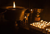 Candles at Buddhist temple — Stock Photo