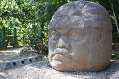 Famous olmec head — Stock Photo