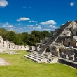 Edzna - ancient pyramid near by Campeche, Mexico - Stock Photo
