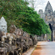 Stock Photo: Sculptures of demons at Bayon Temple, Angkor Wat, Cambodia
