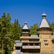 Beautiful view of Orthodox monastery on island Valaam. Ladoga lake. The north of Russia - Stock Photo