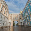 Park and royal palace in Pushkin town near by Saint-Petersburg, Russia — Stock Photo #25666169
