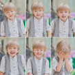 Kid's emotions — Stock Photo