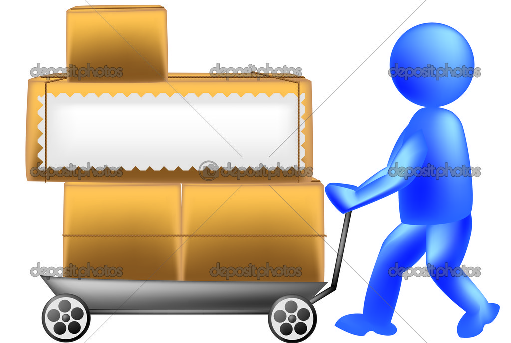 Porter with a trolley  Stock Vector #15451683