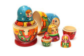 Matryoshka dolls isolated on white background — Stock Photo