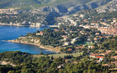 Top view of the sea and the bay Calanques in Cassis — Stock Photo