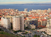 View of the city of Marseille and the Mediterranean Sea from a h — Stock Photo