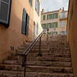 Steps leading up to the historic center of Marseilles — Stok fotoğraf