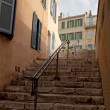 Steps leading up to the historic center of Marseilles — Stock Photo