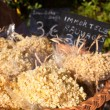 Dried flowers in a basket for 3 euros — ストック写真