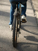 Bike on the road — Stock Photo
