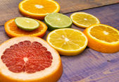 Citrus slices — Stock Photo