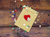 Scrapbooking kit — Stock Photo