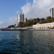 Waterfront in Sochi on the background of blue sky — Foto Stock