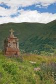 Ancient Orthodox cross — Stock Photo
