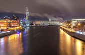 View of the Moscow River in the night — Stock Photo