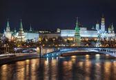 Moskevský Kreml v noci — Stock fotografie