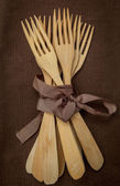 Wooden forks — Stock Photo