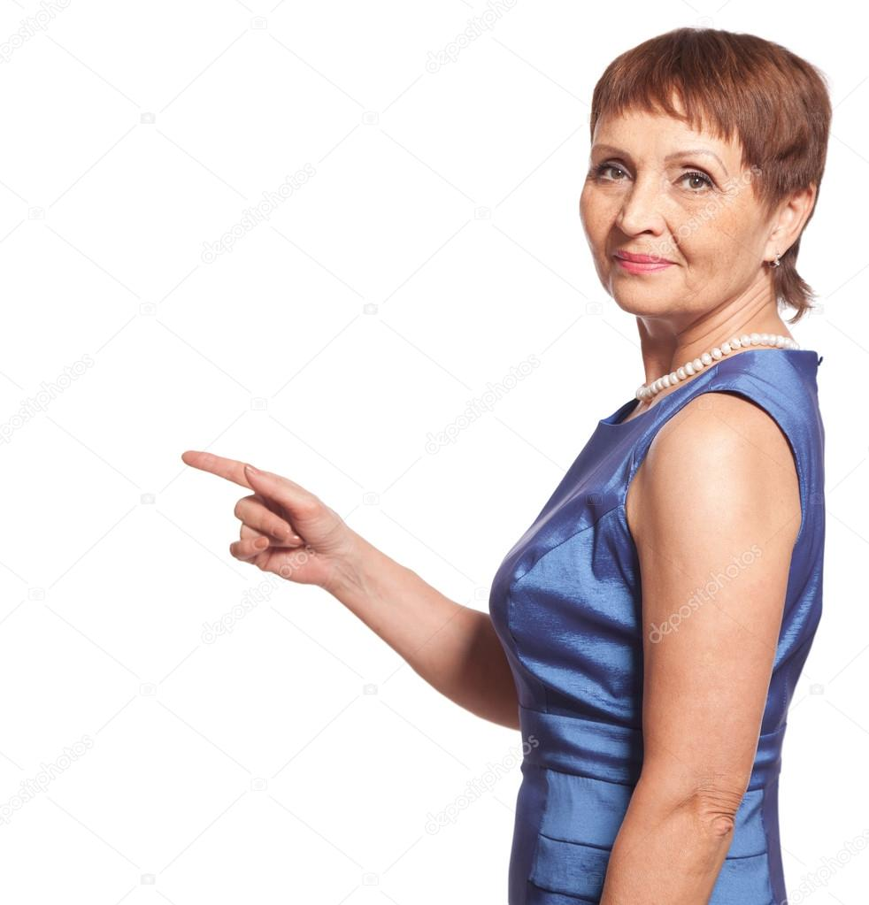 Attractive woman 50 years old — Stock Photo © OlezzoSimona