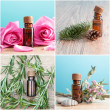 Bottles with organic essential oils — Stock Photo #39609171